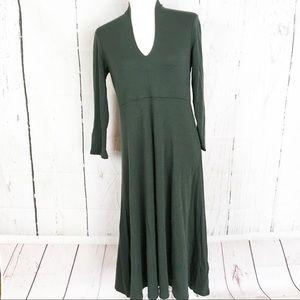 Eileen Fisher Wool V-Neck Midi Dress